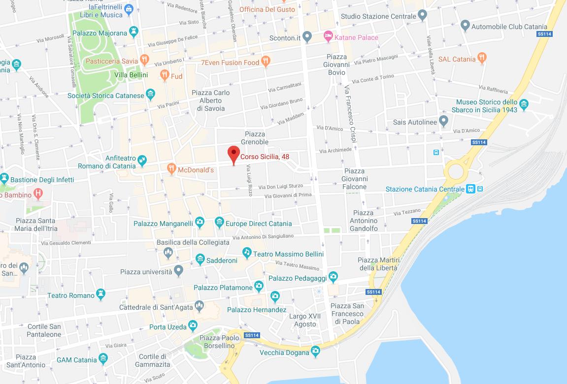 maps Catania – Corso Sicilia, 48