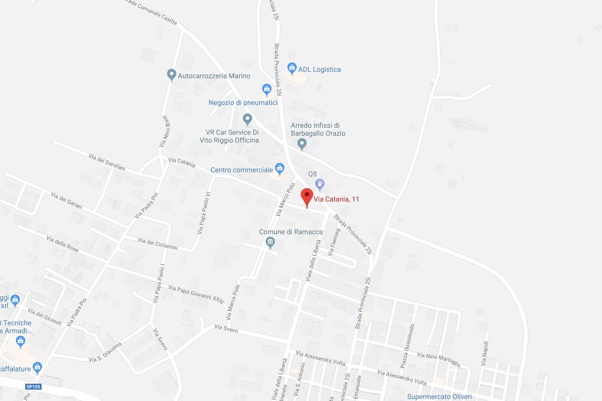 maps Ramacca (Ct), Via Catania n. 11